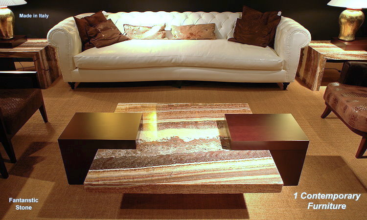 Contemporary Onyx Coffee Table