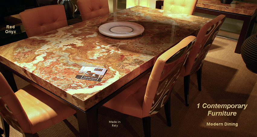 Red Onyx Dining Table