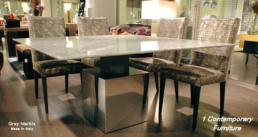 Modern Marble Square Dining Table
