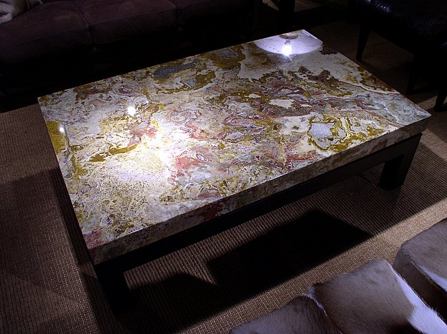 Red Onyx Coffee Table