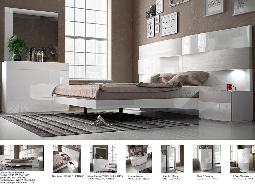 Contemporary White Bedroom Set