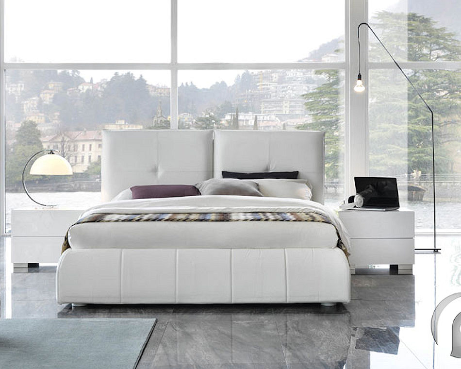 Contemporary Leather Bed