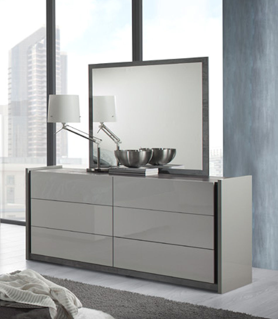 Contemporary Dresser in Grey