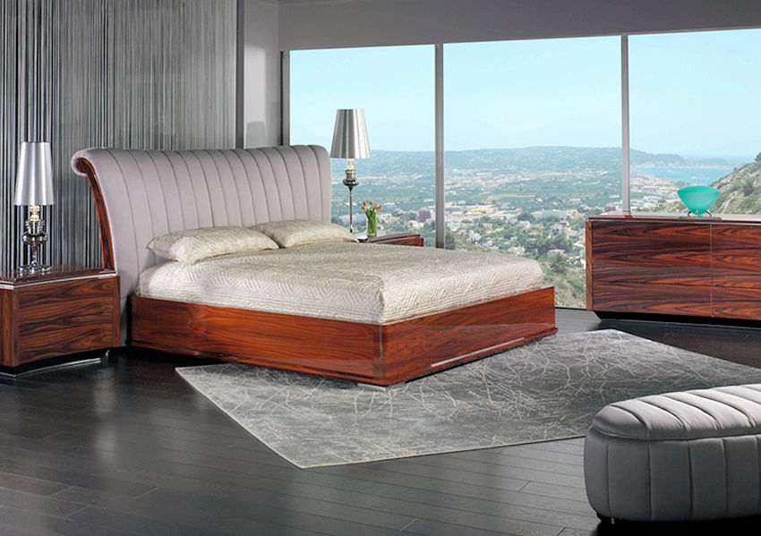 Contemporary Rosewood Bedroom Set
