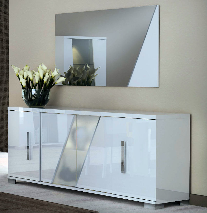 White High Gloss Lighting Buffet