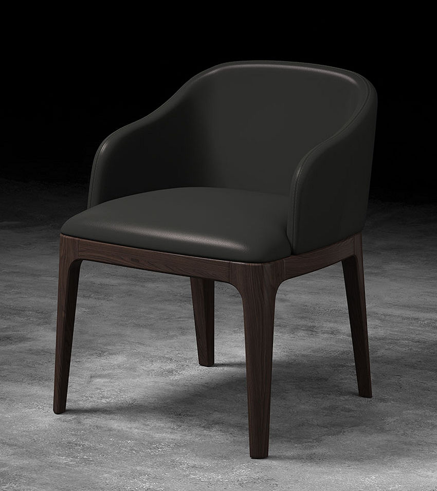 Contemporary Arm Dining Chair