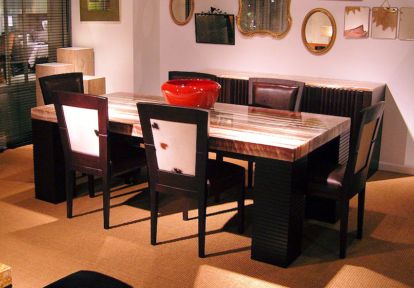 Contemporary Onyx Dining Table