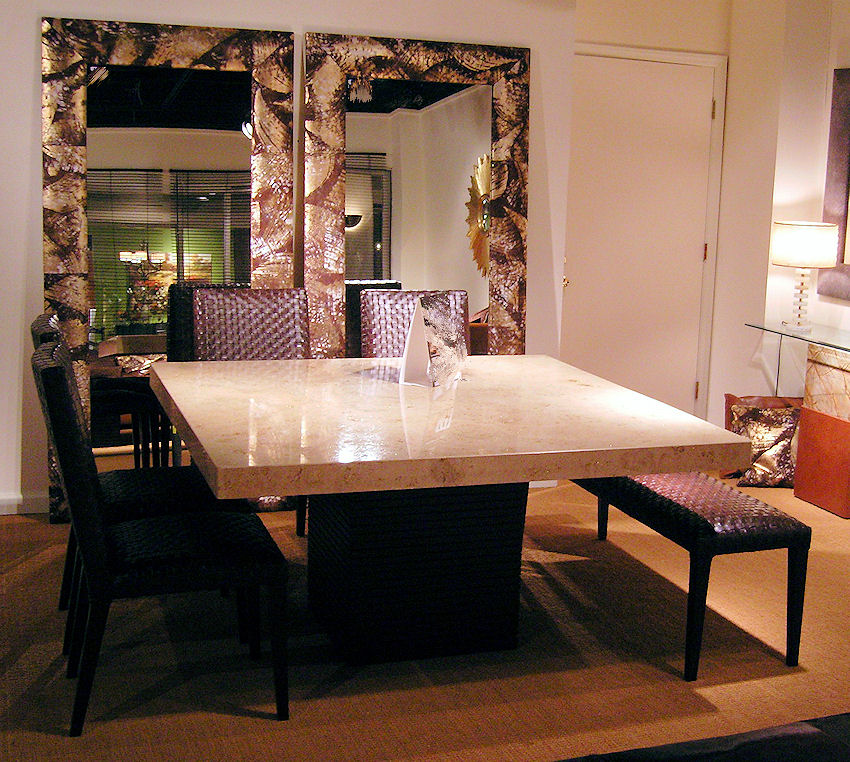 Stone Square Dining Table