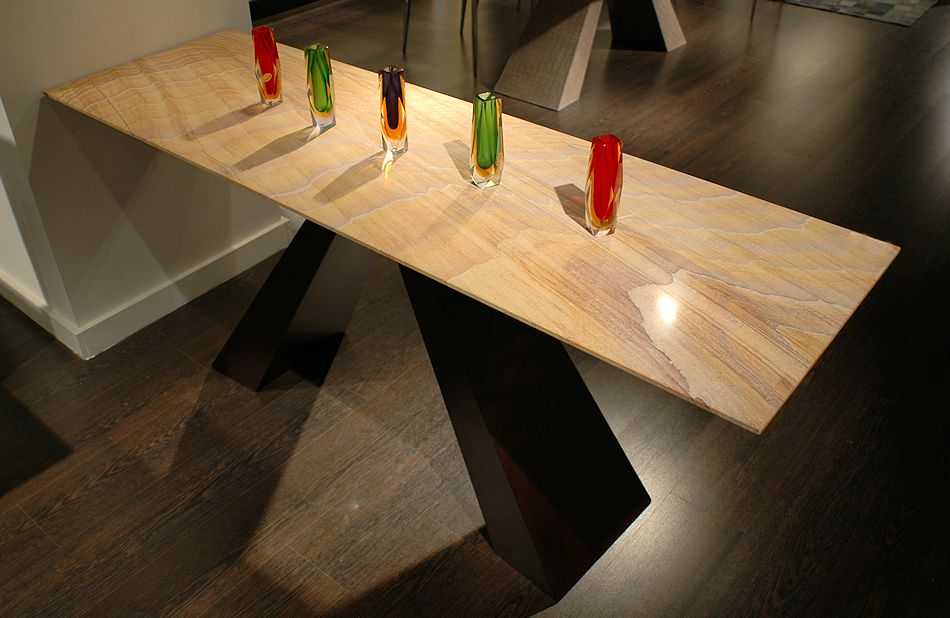 Contemporary Stone Top Table