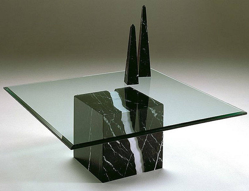 Contemporary Stone Base Table