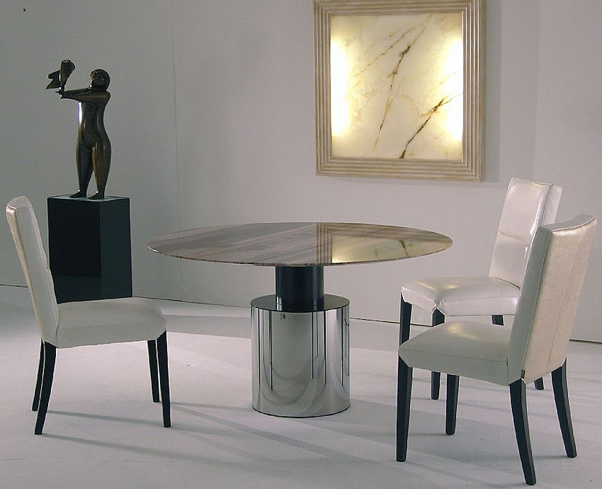 Stone Round Dining Table