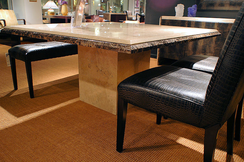 Contemporary Square Stone Dining Table