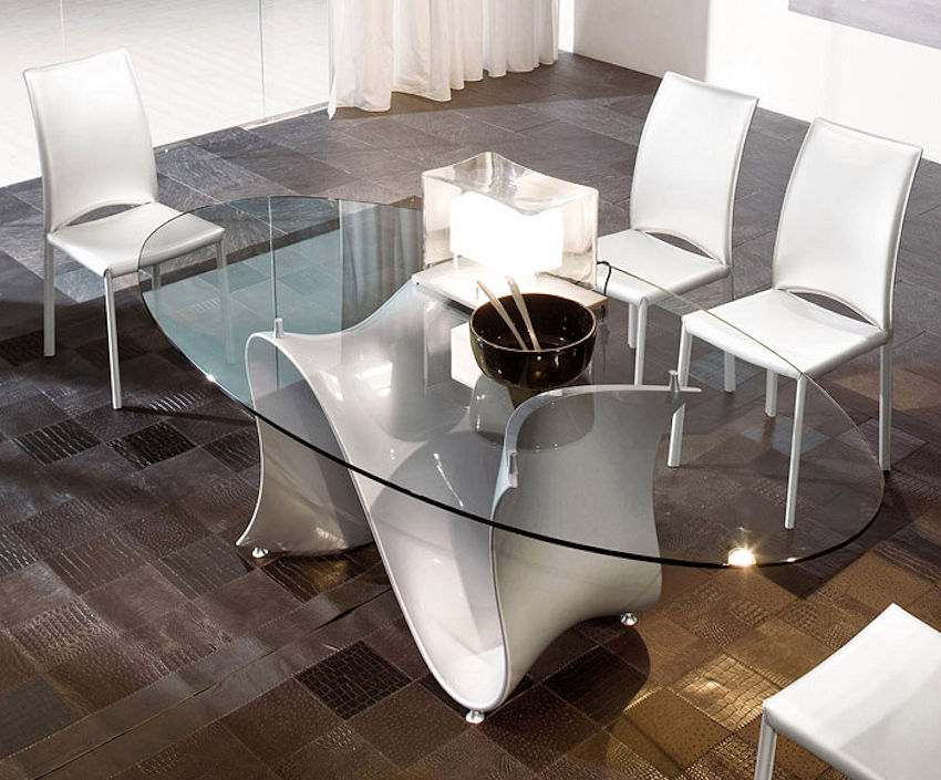 Wave Oval Dining Table