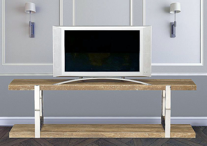 Contemporary Stone TV Stand