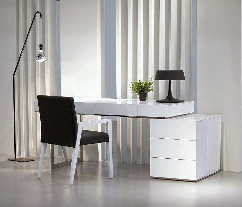 Modern White Home Office Desk