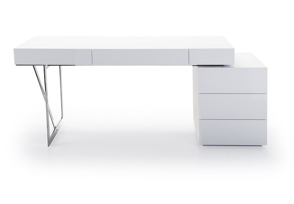 Contemporary White Home Office Desk