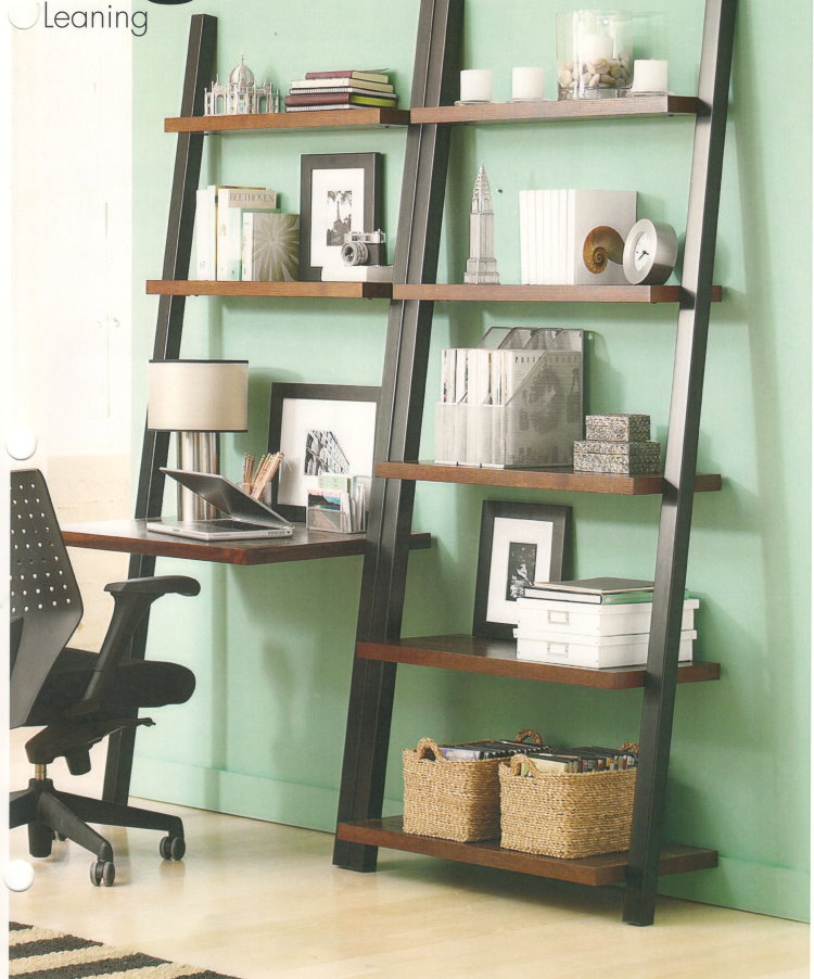 Ladder Bookshelf With Desk Furniture Table Styles