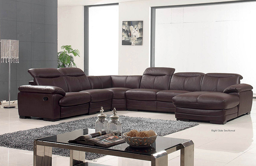 Contemporary Leather Sectional