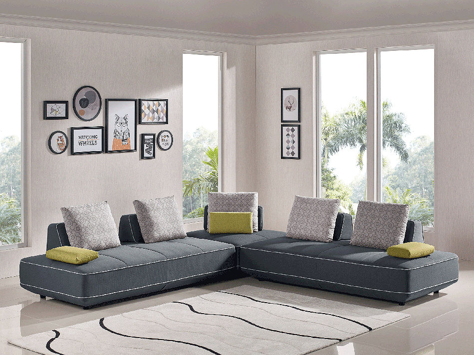 Modern Fabric Sectional