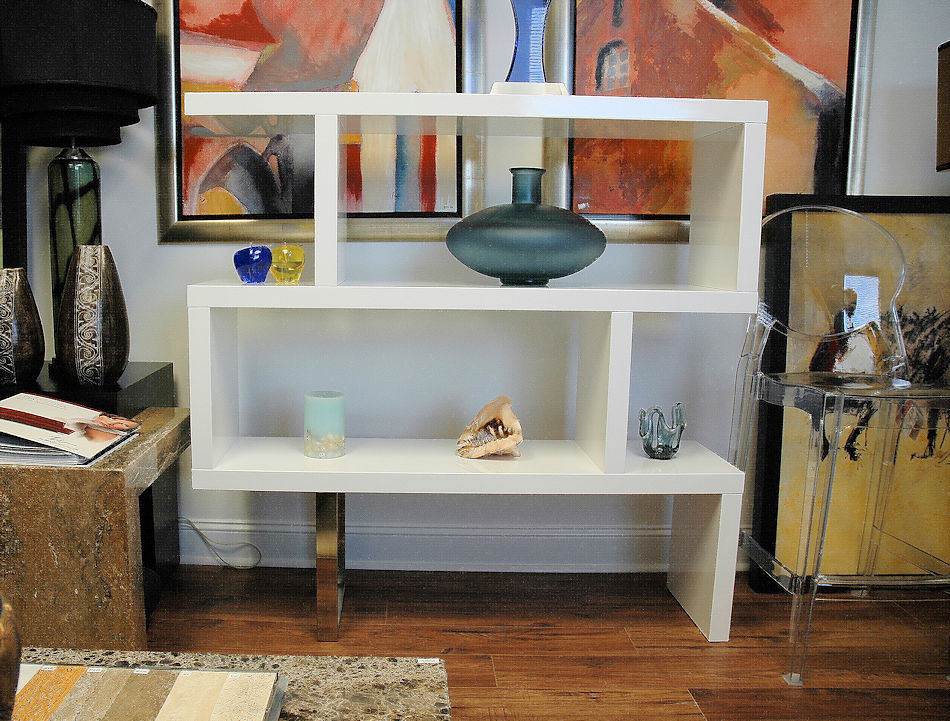 Modern White Shelves