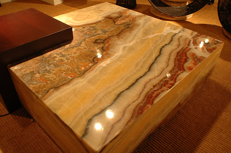 Lighted Onyx Coffee Table