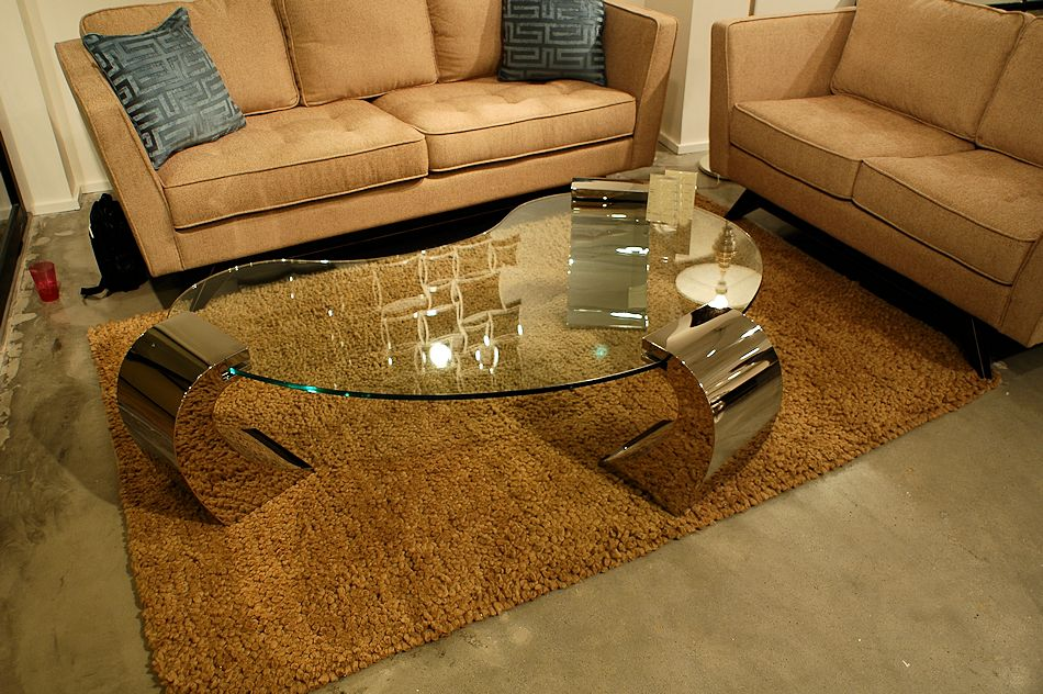 Modren Glass Top Coffee Table