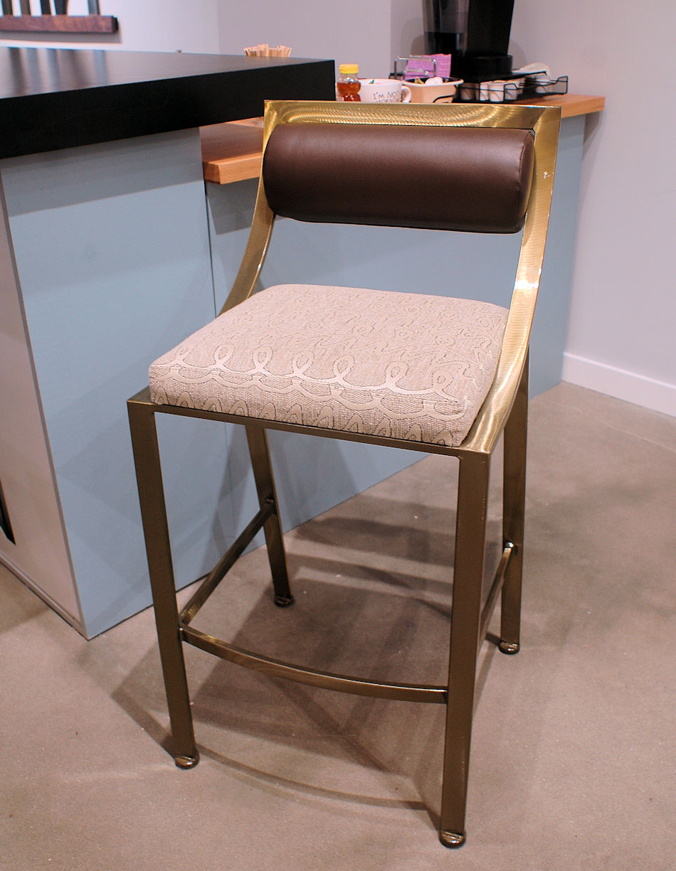 Contemporary Metal Base Barstool