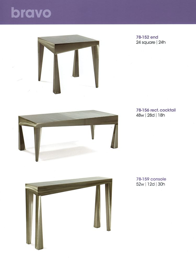 Contemporary Stainless Steel Tables