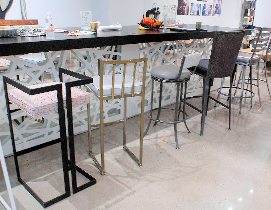 Contemporary Metal Base Barstools
