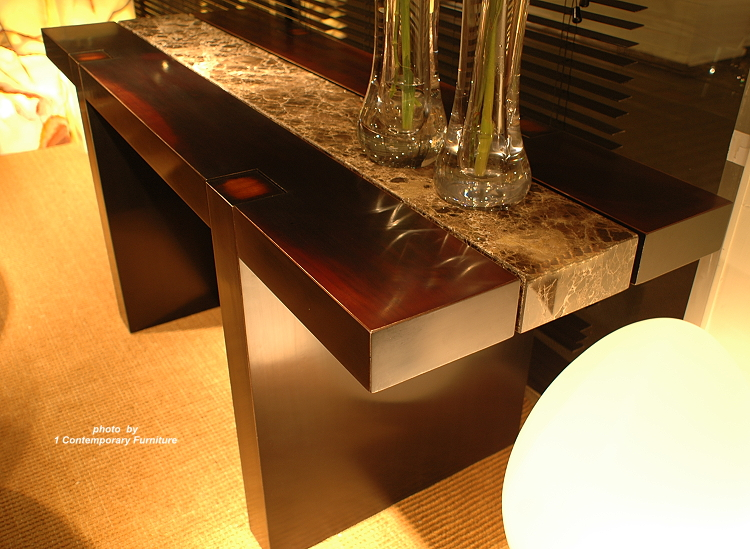 Contemporary Stone Console Table