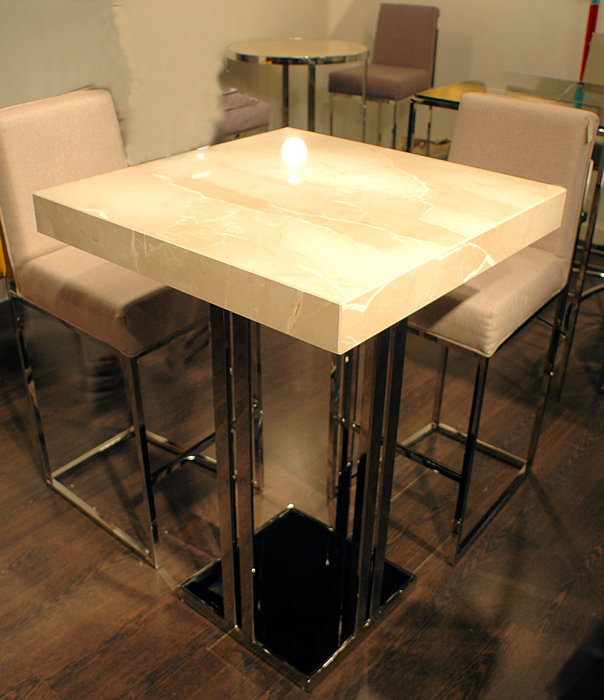 Contemporary Stone Bar Table