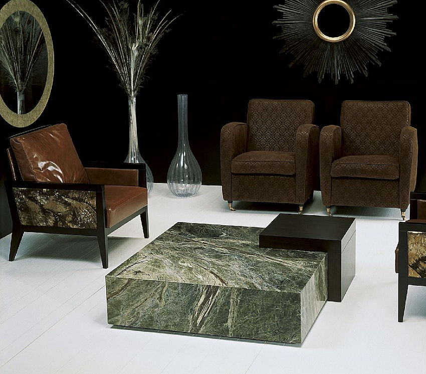 Contemporary Stone Cocktail Table