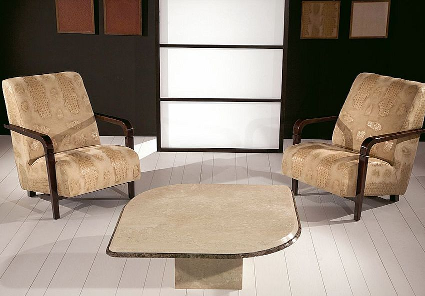 Contemporary Stone Coffee Table