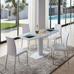 Contemporary Small Extendable Dining Table