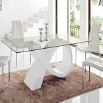 Contemporary White Base Dining Table