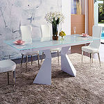 Dining White Glass Table