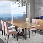 Contemporary Ash Burl Dining