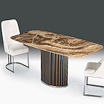 Contemporary Dining Table Onyx Top