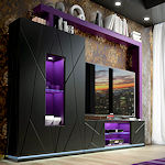 Luxiry Entertainment Wall Unit