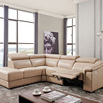 Contemporary Recliner Leather Sectional