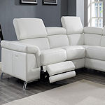 Italian Leather Sectional Recliner