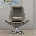 Occasional Grey Fabric Chair