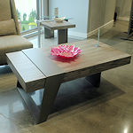 Modern Wood Top Occasional Tables